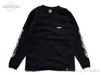 バスブリゲード Tシャツ - BRGDフレイム ロングスリーブ #ブラック/シルバー Mサイズ