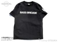 バスブリゲード Tシャツ - 3D BRGD  #ブラック/ホワイト XLサイズ