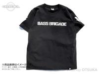 バスブリゲード Tシャツ - 3D BRGD  #ブラック/ホワイト Lサイズ