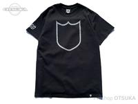 バスブリゲード Tシャツ - シールドアウトライン  #ブラック/シルバー XLサイズ