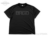 バスブリゲード Tシャツ - BASS ドライ ビッグ #ブラック/ブラック Lサイズ