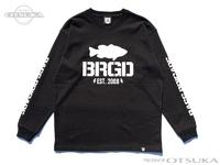 バスブリゲード Tシャツ - アンシールドロゴ ロングスリーブ #ブラック Lサイズ