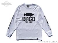 バスブリゲード Tシャツ - アンシールドロゴ ロングスリーブ #ホワイト XLサイズ