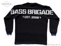 バスブリゲード Tシャツ - ヒュージBBワードマーク ロングスリーブ #ブラック XLサイズ