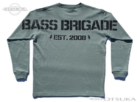バスブリゲード Tシャツ - ヒュージBBワードマーク ロングスリーブ #スモーキーグリーン Lサイズ