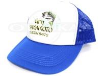 ゲーリーヤマモト メッシュキャップ - ロゴ #ロイヤルブルー/ホワイト フリーサイズ