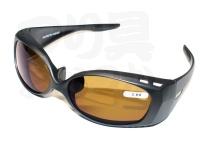 朝倉プラン バイフォーカル偏光サングラス - NS-004 #フレーム:マットブラック レンズ:ブラウン NS-00420 +2.00