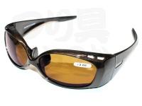 朝倉プラン バイフォーカル偏光サングラス - NS-004 #フレーム:ブラウン レンズ:ブラウン NS-00450 +2.00
