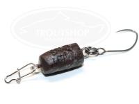 どっこい製作所 ペレットルアーリアル - マイクロ タイプ2 #D04 チョコチップブラウン 11mm 約0.5g スローシンキング