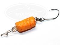 どっこい製作所 ペレットルアーリアル - マイクロ タイプ2 #D22 カラシオレンジ 11mm 約0.5g スローシンキング