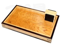 箱雅 テーブル - Mタイプ2 #屋久杉X黒檀X欅 サイズ:21.5X13.5cm