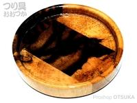力也 へら用小皿 - バージョン1 黒柿 直径:約7.8cm裏面落款入