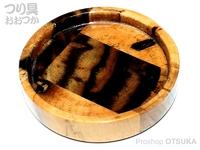 力也 へら用小皿 - バージョン2 黒柿 直径:約7.8cm裏面落款入